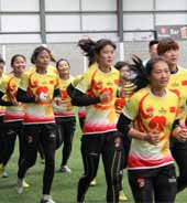 Female squad's flavour of international rugby