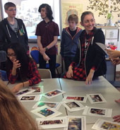 Art club pupils pitch ideas to Clarks retail expert