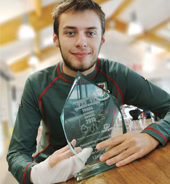 Travel student wins Young Achiever's award