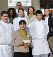 Charity donation from aspiring chefs